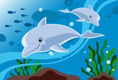 Friendly Dolphins Royalty Free Stock Image