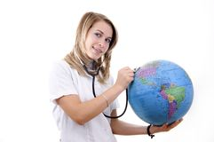 Friendly earth diagnostic Stock Photo