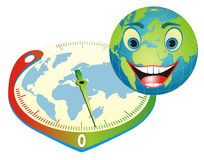 Friendly Earth. The right way to save our planet. Stock Photo