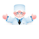 Friendly elderly doctor with arms wide open Royalty Free Stock Photos
