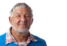 Friendly elderly gentleman royalty free stock photography