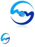 Friendly emblem. Illustrated line art friendly emblem design Royalty Free Stock Image