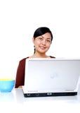 Friendly employee royalty free stock image