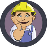 Friendly Engineer smiling thumbs up and wearing uniform Stock Photography