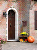 Friendly entrance door. Decorated with vegetables Stock Images