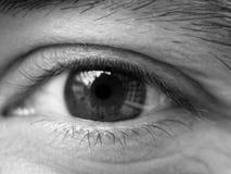 Friendly eye. Man friendly eye stock photo