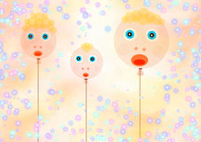 Friendly family. Abstract creative symbolic fantasy image happy summer holiday Stock Photo