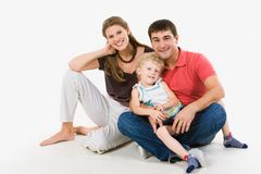 Friendly family Royalty Free Stock Photography