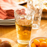 Friendly family dinner party preparation Stock Image