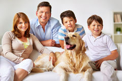 Friendly family royalty free stock photography