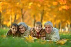 Friendly family in park Royalty Free Stock Photos