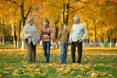 Friendly family in park Royalty Free Stock Photography