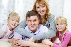 Friendly family Stock Photos