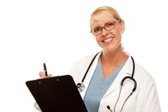 Friendly Female Blonde Doctor Royalty Free Stock Photography