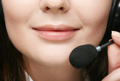 friendly female call center operator Royalty Free Stock Photos