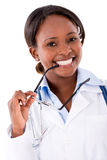 Friendly female doctor Stock Image