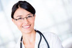 Friendly female doctor Stock Photos