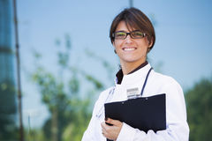 Friendly female doctor Stock Photo