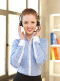 Friendly female helpline operator Stock Photos