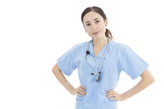 Friendly female nurse or doctor Royalty Free Stock Image