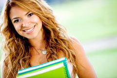 Friendly female student Stock Photography