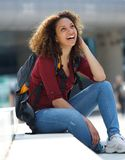 Friendly female student smiling Royalty Free Stock Photos