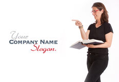 Friendly female teacher Royalty Free Stock Photography