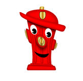 Friendly fire hydrant. Royalty Free Stock Images