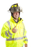 Friendly Fireman - Thumbsup Stock Photos