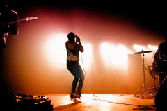 Friendly Fires (band) performs at Razzmatazz Royalty Free Stock Photos