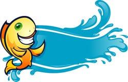 Fish Banner Menu. Friendly Fish Character Design, good for Menu header Stock Image