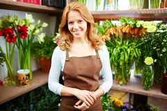 Friendly florist Royalty Free Stock Photography