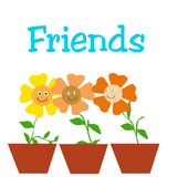 Friendly flowers Stock Photography