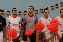 Friendly futsal match France vs Belgique Royalty Free Stock Images