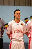 Friendly futsal match France vs Belgique Royalty Free Stock Image