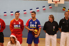 Friendly futsal match France vs Belgique Stock Photos