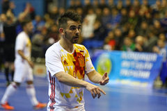 Friendly Futsal: Ukraine v Spain in Kiev, Ukraine Royalty Free Stock Image