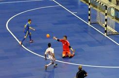 Friendly Futsal: Ukraine v Spain in Kiev, Ukraine Royalty Free Stock Photography