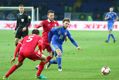 Friendly game Ukraine v Serbia in Kharkiv Stock Photos