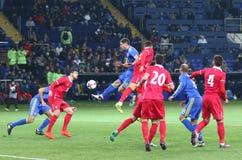 Friendly game Ukraine v Serbia in Kharkiv Stock Photo