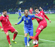 Friendly game Ukraine v Serbia in Kharkiv Royalty Free Stock Images