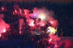 Friendly game Ukraine v Serbia in Kharkiv Royalty Free Stock Photo