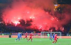 Friendly game Ukraine v Serbia in Kharkiv Royalty Free Stock Photos