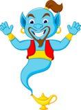 Friendly genie cartoon Stock Photos