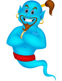 Friendly genie cartoon Royalty Free Stock Images