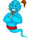 Friendly genie cartoon Royalty Free Stock Images