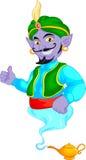 Friendly genie cartoon Stock Photography