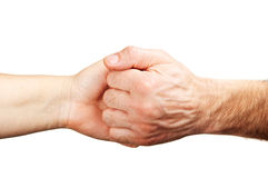 Friendly gesture with hands Royalty Free Stock Image
