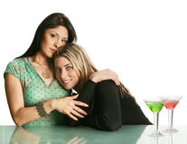 Friendly girls stock photography