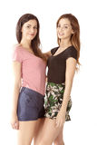 Friendly girls. Two friendly girls with happy expression Royalty Free Stock Images